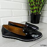 """Балетки женские, черные """"Firci"""" эко лак, туфли женские, мокасины женские, женская обувь, фото 7"""