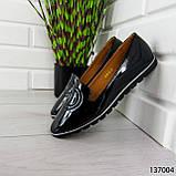"""Балетки женские, черные """"Firci"""" эко лак, туфли женские, мокасины женские, женская обувь, фото 8"""