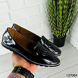 """Балетки женские, черные """"Firci"""" эко лак, туфли женские, мокасины женские, женская обувь, фото 9"""