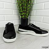 """Кроссовки мужские черные в стиле """"Puma"""" НАТУРАЛЬНАЯ КОЖА + ЗАМША мокасины мужские, кеды мужские, обувь мужская, фото 5"""