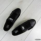 """Кроссовки мужские черные в стиле """"Puma"""" НАТУРАЛЬНАЯ КОЖА + ЗАМША мокасины мужские, кеды мужские, обувь мужская, фото 6"""