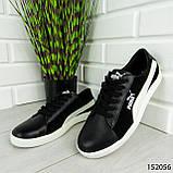 """Кроссовки мужские черные в стиле """"Puma"""" НАТУРАЛЬНАЯ КОЖА + ЗАМША мокасины мужские, кеды мужские, обувь мужская, фото 8"""