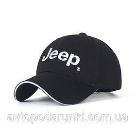 Кепка JEEP черная, бейсболка с лотипом авто  ДЖИП