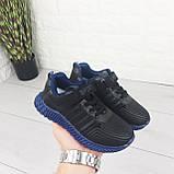 Кросівки дитячі на липучках і шнурках. Кросівки підліткові чорний з еко шкіри. Розміри 31-36, фото 5
