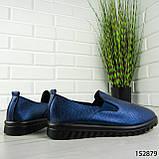 """Мокасины женские, синие """"Wespy"""" эко кожа, кроссовки женские, кеды женские, повседневная обувь, фото 3"""
