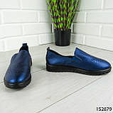 """Мокасины женские, синие """"Wespy"""" эко кожа, кроссовки женские, кеды женские, повседневная обувь, фото 4"""
