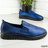 """Мокасини жіночі, сині """"Wespy"""" еко шкіра, кросівки жіночі, кеди жіночі, повсякденне взуття, фото 9"""