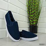 """Мокасины женские, синие """"Dally"""" текстильные, кроссовки женские, кеды женские, повседневная обувь, фото 3"""