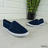 """Мокасины женские, синие """"Dally"""" текстильные, кроссовки женские, кеды женские, повседневная обувь, фото 4"""