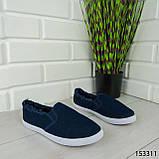 """Мокасины женские, синие """"Dally"""" текстильные, кроссовки женские, кеды женские, повседневная обувь, фото 5"""