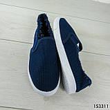 """Мокасины женские, синие """"Dally"""" текстильные, кроссовки женские, кеды женские, повседневная обувь, фото 6"""