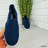 """Мокасины женские, синие """"Dally"""" текстильные, кроссовки женские, кеды женские, повседневная обувь, фото 7"""
