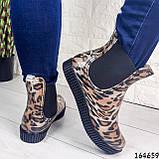 Женские ботинки демисезонные литые, леопардовые из резины, фото 2