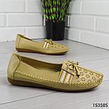 """Балетки женские, бежевые """"Dvenis"""" эко кожа, туфли женские, мокасины женские, женская обувь, фото 2"""