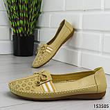 """Балетки женские, бежевые """"Dvenis"""" эко кожа, туфли женские, мокасины женские, женская обувь, фото 3"""