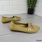 """Балетки женские, бежевые """"Dvenis"""" эко кожа, туфли женские, мокасины женские, женская обувь, фото 4"""