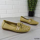 """Балетки женские, бежевые """"Dvenis"""" эко кожа, туфли женские, мокасины женские, женская обувь, фото 5"""