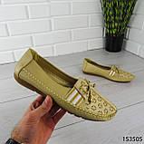 """Балетки женские, бежевые """"Dvenis"""" эко кожа, туфли женские, мокасины женские, женская обувь, фото 6"""