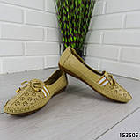 """Балетки женские, бежевые """"Dvenis"""" эко кожа, туфли женские, мокасины женские, женская обувь, фото 7"""