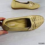 """Балетки женские, бежевые """"Dvenis"""" эко кожа, туфли женские, мокасины женские, женская обувь, фото 8"""