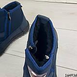 Ботинки мужские ЗИМНИЕ синие из текстиля, внутри густой эко мех, фото 8