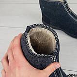 Женские ботинки ЗИМНИЕ серые из войлока. Внутри густой эко мех, фото 2