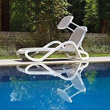 Лежак садовий пляжний пластиковий пластмасовий Nardi Ost Fran / Ост Фран ALFA / Альфа, фото 2