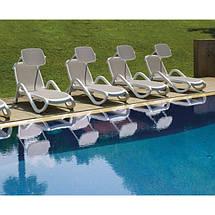 Лежак садовий пляжний пластиковий пластмасовий Nardi Ost Fran / Ост Фран ALFA / Альфа, фото 3