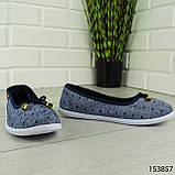 """Балетки женские, синие """"Jastude"""" текстильные, туфли женские, мокасины женские, женская обувь, фото 4"""