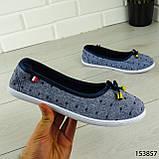 """Балетки женские, синие """"Jastude"""" текстильные, туфли женские, мокасины женские, женская обувь, фото 6"""