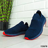 """Кроссовки мужские, синие """"Seneve"""" текстильные, мокасины мужские, кеды мужские, обувь мужская, фото 4"""