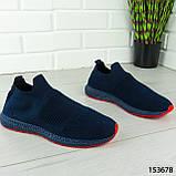"""Кроссовки мужские, синие """"Seneve"""" текстильные, мокасины мужские, кеды мужские, обувь мужская, фото 7"""