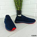 """Кроссовки мужские, синие """"Seneve"""" текстильные, мокасины мужские, кеды мужские, обувь мужская, фото 8"""