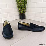 """Туфли мужские, синие """"Bergo"""" НАТУРАЛЬНАЯ КОЖА, мокасины мужские, мужская обувь, фото 2"""