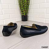 """Туфли мужские, синие """"Bergo"""" НАТУРАЛЬНАЯ КОЖА, мокасины мужские, мужская обувь, фото 4"""