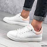 Женские кроссовки белые из эко кожи, фото 2