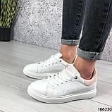 Женские кроссовки белые из эко кожи, фото 3