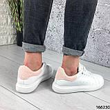 Женские кроссовки белые из эко кожи, фото 4