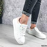 Женские кроссовки белые из эко кожи, фото 5