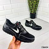"""Кросівки чоловічі, чорні стилі """"Nike"""" еко шкіра, мокасини чоловічі, кеди чоловічі, взуття чоловіче, фото 4"""