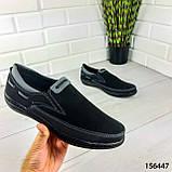 """Туфлі чоловічі, чорні """"Jayte"""" еко нубук, мокасини чоловічі, чоловіче взуття, фото 2"""