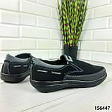 """Туфлі чоловічі, чорні """"Jayte"""" еко нубук, мокасини чоловічі, чоловіче взуття, фото 3"""