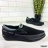 """Туфлі чоловічі, чорні """"Jayte"""" еко нубук, мокасини чоловічі, чоловіче взуття, фото 4"""