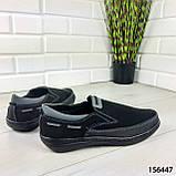 """Туфлі чоловічі, чорні """"Jayte"""" еко нубук, мокасини чоловічі, чоловіче взуття, фото 5"""