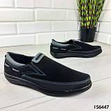 """Туфлі чоловічі, чорні """"Jayte"""" еко нубук, мокасини чоловічі, чоловіче взуття, фото 6"""