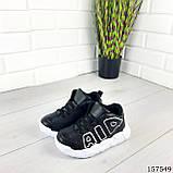 """Кросівки дитячі, чорні """"Aolen"""" еко шкіра, кеди дитячі, мокасини дитячі, фото 4"""