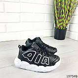 """Кросівки дитячі, чорні """"Aolen"""" еко шкіра, кеди дитячі, мокасини дитячі, фото 6"""