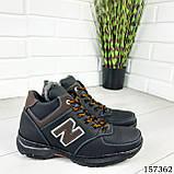 """Ботинки мужские зимние черные """"New B"""" эко кожа, Зимние ботинки. Обувь мужская. Обувь зимняя, фото 2"""