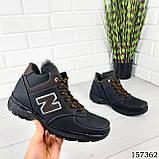 """Ботинки мужские зимние черные """"New B"""" эко кожа, Зимние ботинки. Обувь мужская. Обувь зимняя, фото 3"""