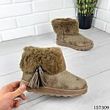 """Уггі жіночі хакі """"Letyo"""" еко замша, Зимові жіночі чоботи. Взуття жіноче., фото 2"""